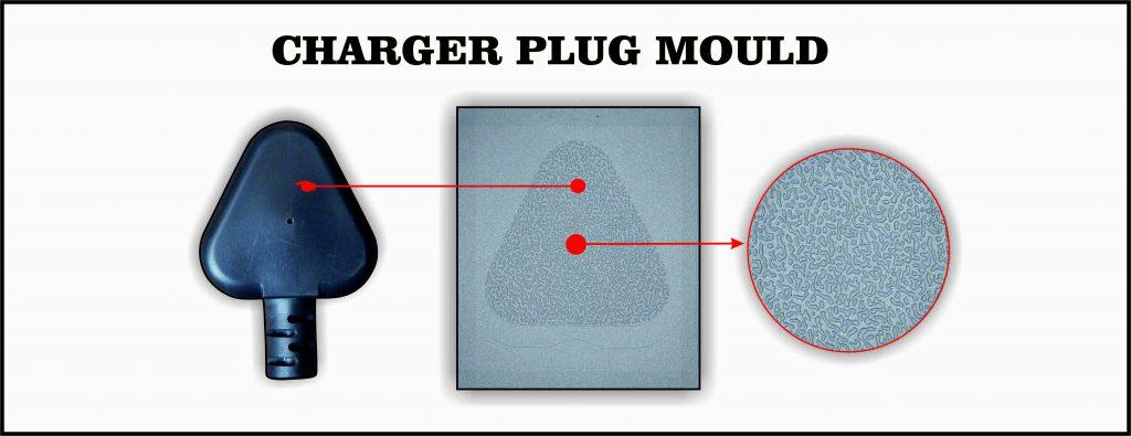 Laser Engraving on charger Plug Mould